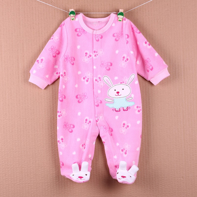 New Arrival Baby Footies Boys&Girls Jumpsuits Spring Autumn Clothes Warm Cotton Baby Footies Fleece Baby Clothing Free Shipping (26)