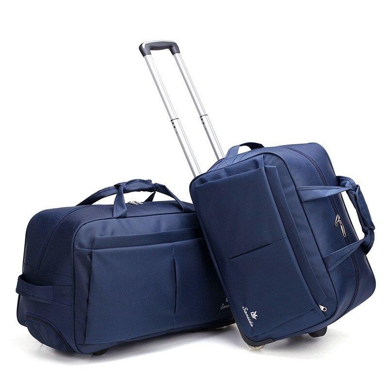 Sacs de chariot en métal de bagage de roue de grande capacité sac de voyage des femmes sac de chariot à main valise de voyage châssis de conseil-in Voyage Sacs from Baggages et sacs    1