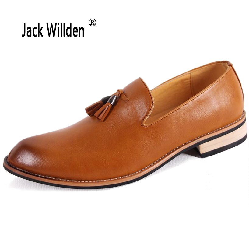 4bcd9bc6fb7 Jack Willden Classical Men Business Dress Shoes Luxury Faux Leather Derby Shoes  Men s Oxfords Casual Loafers