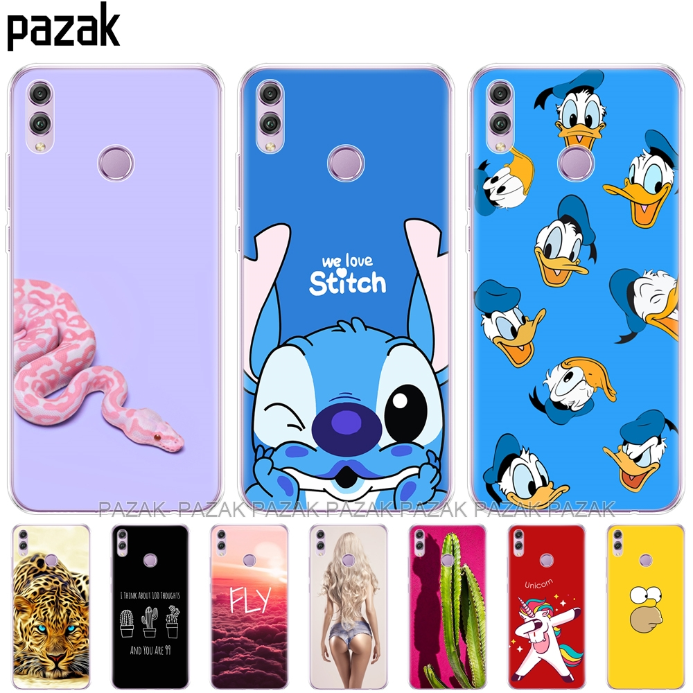 Silicone-Case Shell-Coque-Bags Back-Cover Huawei Honor for 8x-Cases Soft TPU 8x-Protect