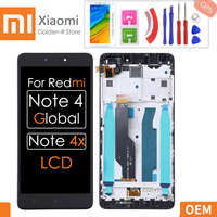 Cep telefonları ve Telekomünikasyon Ürünleri'ten Cep Telefonu LCD'leri'de 5.5 ''AAA kalite Xiaomi Redmi için not 4X dokunmatik LCD ekran ekran Redmi için not 4 Global Snapdragon 625 yedek + hediyeler
