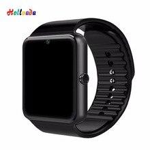 GT08 Смарт-часы Bluetooth мужские с сенсорным экраном умные часы с большой батареей поддержка TF sim-карты камера для IOS iPhone Android телефон