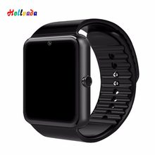 GT08 Smart Watch Bluetooth Men With Touch Screen Smartwatch Big Battery Support TF Sim Card Camera For IOS iPhone Android Phone(China)