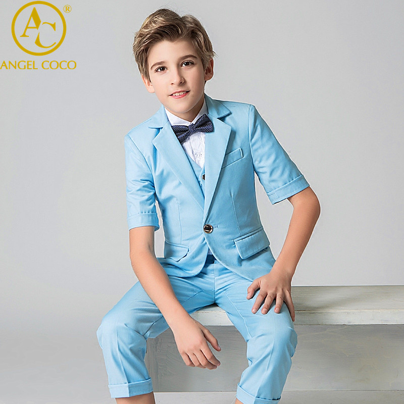 Menino Kids Blazers Vests Suit For Prom Daily Casual Jacket Single Breasted Children'S Clothing Flower Boy Custumes For Wedding