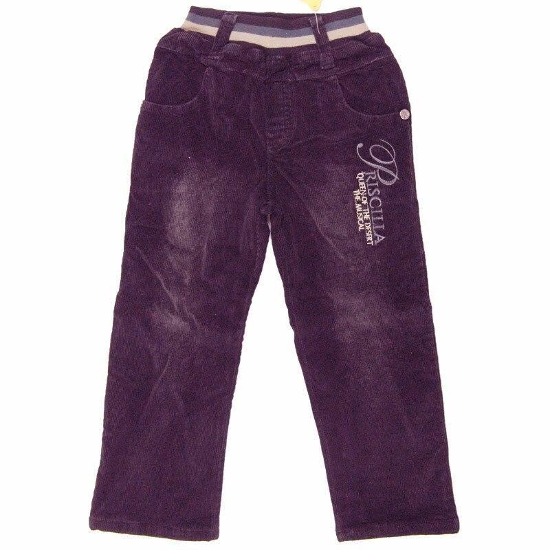 Hiver 3-7Y garçons pantalons chaud épaissir velours adolescents enfants pantalons lettres brodé en acier bouton polaire bébé pantalon 0214L