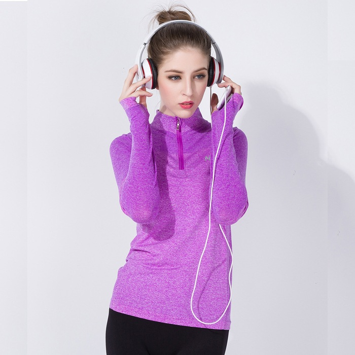 Sport Sweatshirts For Female Women Workout Hoody Gym T Shirts Fitness Clothing T-shirt Yoga Hoodies Running Tees Jacket Tops E62