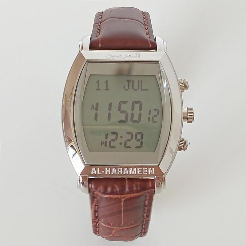 Watches Muslim Qibla Watch With Azan Time And Hijri Alfajr Watch 6260 Azan Watch With Prayer Alarm Tonneau Watch For Muslim