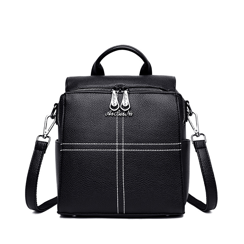 BILLETERA New Women Bags Lady Pure Style Backpack Zip Hit Lines BagsBILLETERA New Women Bags Lady Pure Style Backpack Zip Hit Lines Bags