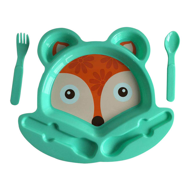Safe Plastic Baby's Tableware Set