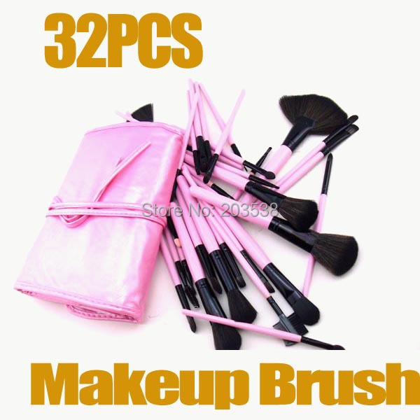 32pcs professional makeup brush set set Kit make up brush set make-up with Pink organizer Bag Case Christmas gift тушь make up factory make up factory ma120lwhdr04