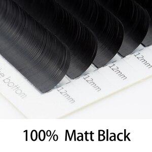 Image 3 - Lagee 50 Gevallen Platte Ellips Wimpers Extensions Matte Black Split Tips Valse Wimpers Natuurlijke Licht Nagaraku Lijn