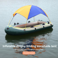 Orange Blue Sunshade Tent Ferry for Hanging Bed Kayak Hiking Folding Awning for Bedding Outdoors Travel Camping Shade Cloth