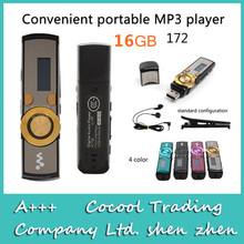 172 digitalen Bildschirm Mp3-player 16 GB, usb stick mp3-player Mit Clip + haben logo 7 Farben, FM radio + Rekord
