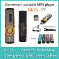 172 tela Digital Mp3 Player 16 gb, Drive usb Mp3 Player com clipe + tem logotipo 7 colors, Rádio FM + Record