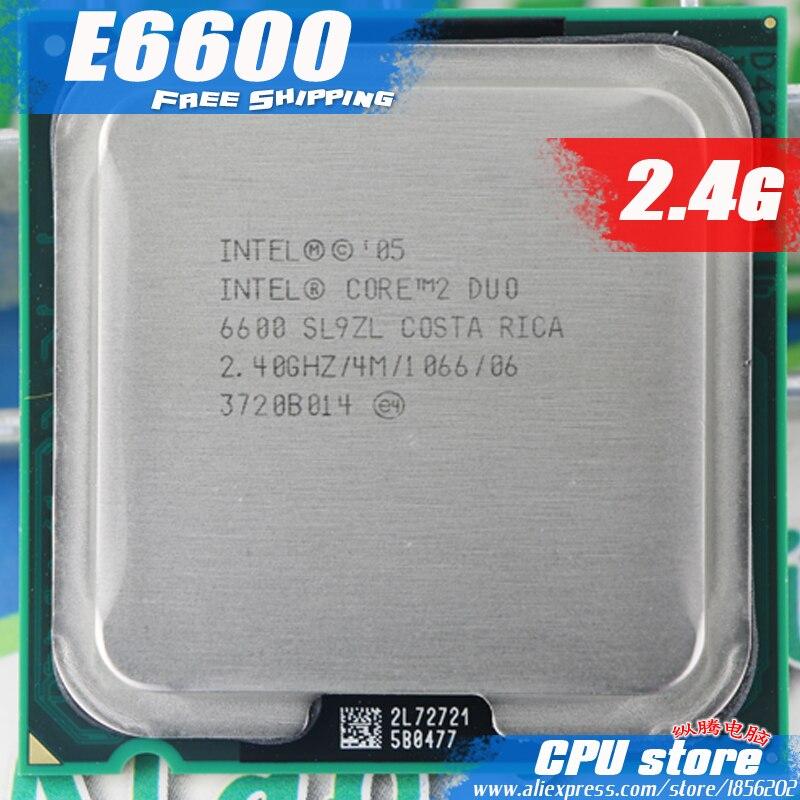 Intel Core 2 Duo E6600 Процессор 2.4 г процессор (2.4 ГГц/4 м/1066 ГГц) разъем 775 Бесплатная доставка