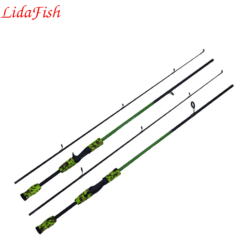 LIDAFISH Spinning casting Fishing Rod 1.8MFRP M Lure Rods Fast Action Pesca Travel Rod Fishing TackleShrinkage length 89cm