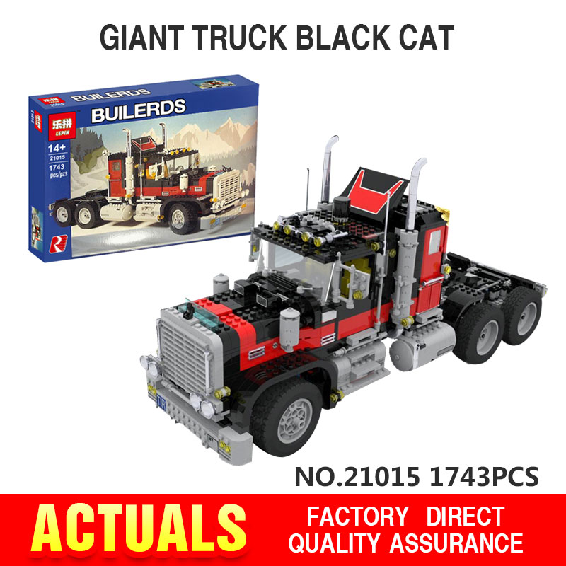 NEW Lepin 21015 1743Pcs The giant American container car Educational Building Blcoks Bricks Toys Gift Compatible with 5571
