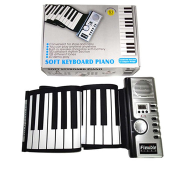 2018 New Soft Keyboard Piano Zebra Portable 61 Keys Universal Flexible Roll Up Electronic Piano For Music Instruments Lover Gift