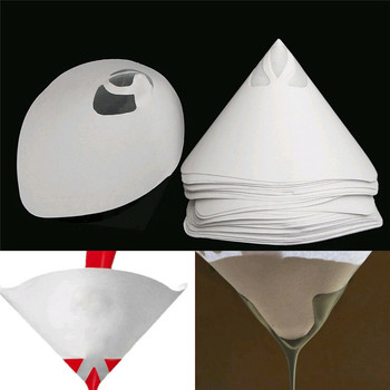 Горячая 230 шт. машинная нейлоновая коническая бумага 100 сетчатый фильтр для краски фильтр Очищающая чашка PLD