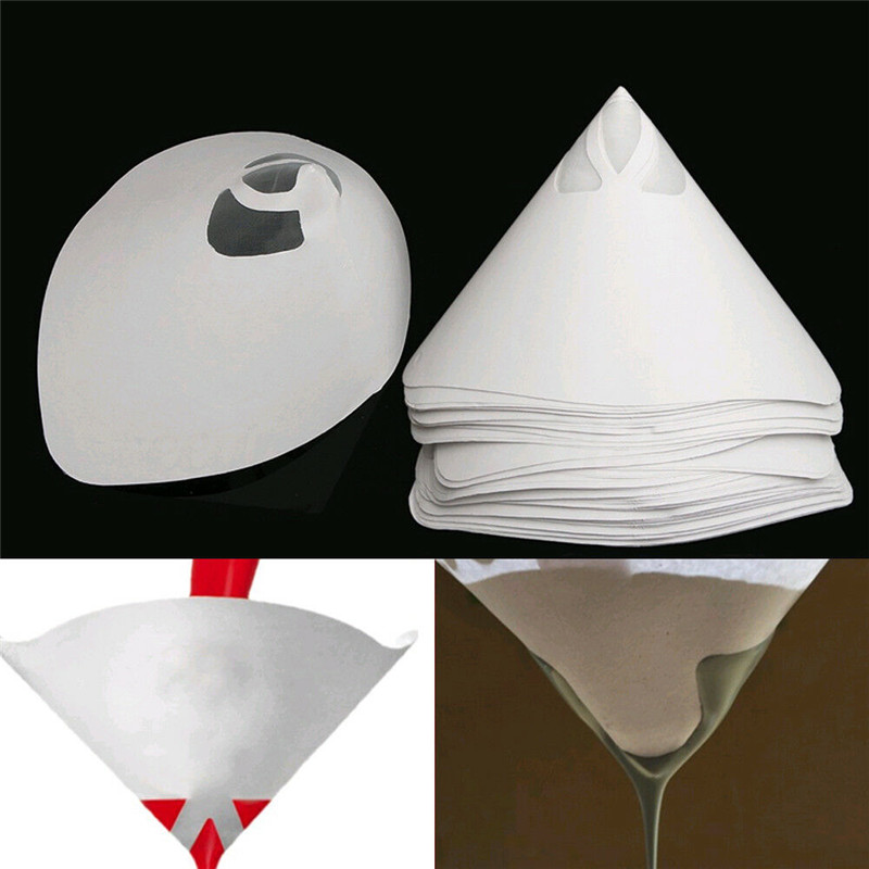 Hot 230pcs Car Nylon Conical Paper 100 Mesh Paint Strainer Filter Purifying Cup PLD