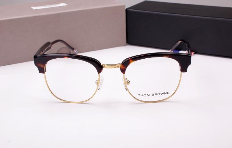 9e1219abbb THOM BROWNE TB016B male Ms. semi circular frame myopia frame retro fashion  Glasses oculos lente transparente computer glasses-in Eyewear Frames from  Apparel ...
