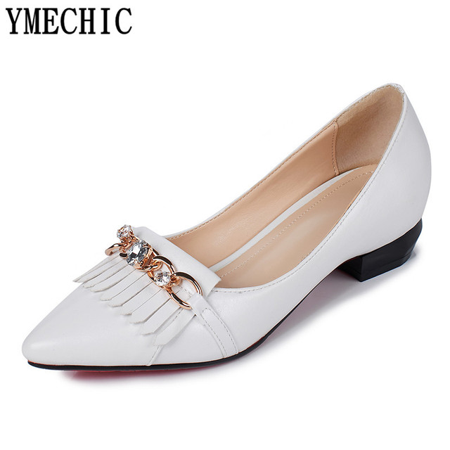 Chaussures à bout pointu blanches femme mA9gFf34Ua