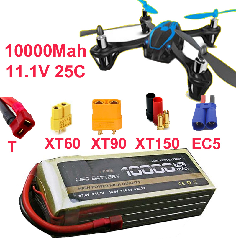 3s 25c 11.1v 10000mah battery drone battery aircraft li-poly battery 25C airplane low resistance long lasting fpv battery