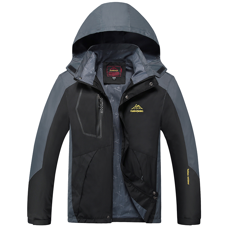 Befusy Plus Size 9XL Spring Autumn Men Outdoor Waterproof Hiking Hunting Climbing Wind Stopper Fishing Sport Softshell Jackets