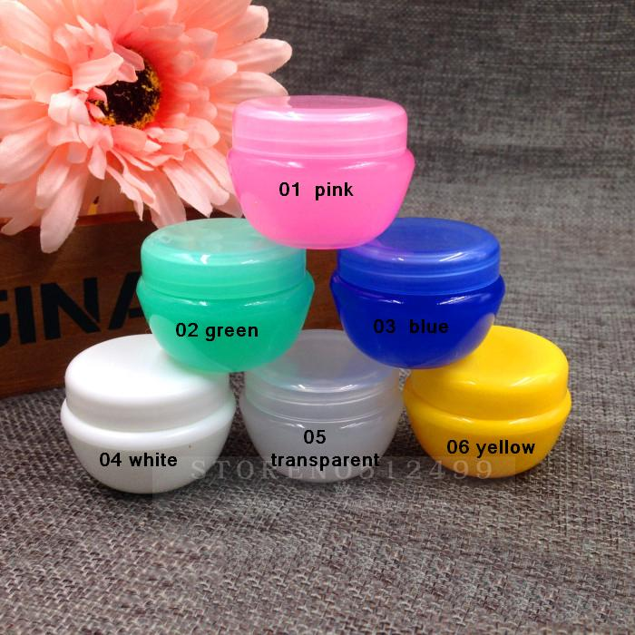 Free shipping 10g mushroom box PP plastic Cream box  Lipstick Jar Cosmetic cases Sample subpackage Bottles Lotion packing Bottle