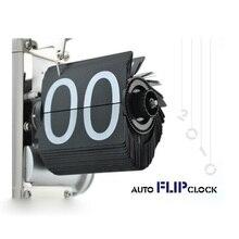 TFBC Black Retro Flip Down Clock-Internal Gear Operated Flip Home Clock USA Shipping