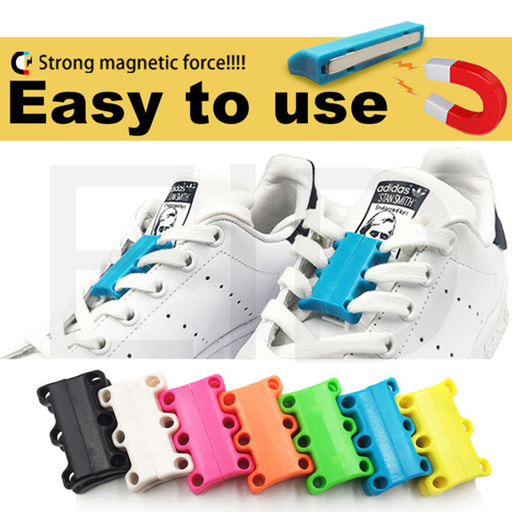 KOTLIKOFF 1 Par 6 Färg ShoeLaces Magnetic Shoelace Buckle Lazy - Sko tillbehör - Foto 6