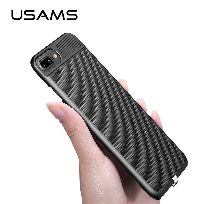 USAMS 2 en 1 Sans Fil Récepteur Cas Qi Récepteur sans fil de charge pour iphone 6 6 s 7 et Plus cas de Téléphone couvercle cas de charge sans fil