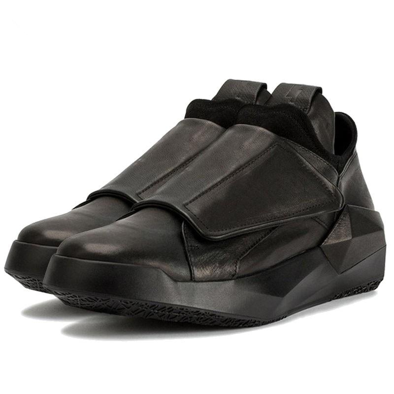 forme Hip Véritable Épais Danse white En Mâle Hommes Espadrilles Black Printemps Chaussures Cuir Formateur Décontractées Coréen Plate Hop black Montantes White Nouveaux Gothique srtQdhC