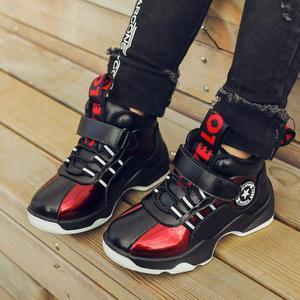 Image 4 - Winter Jongens Laarzen Kinderen Schoenen Kinderen Laarzen Mode Outdoor Martin Laarzen Pluche Warm Enkel Casual Sneakers Rubber Bottom