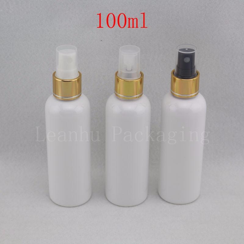 100ml bottles with gold sprayer pump