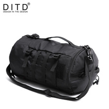 DITD Big Capacity Travel Bags New Arrival Cylinder Package Multifunction Rusksack Men Women Fashion Backpack Luggage Duffle Bags