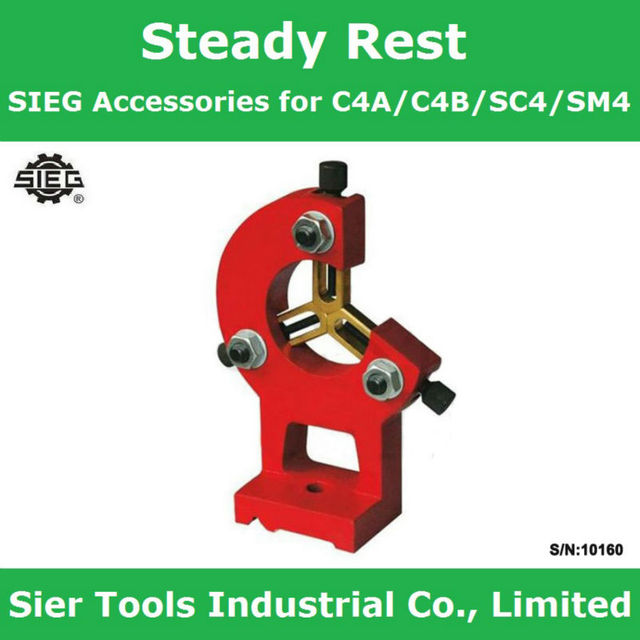 US $66 41 5% OFF|Aliexpress com : Buy S/N:10160 Steady Rest/SIEG  Accessories for C4A/C4B/SC4/SM4 centre rest/lathe centre rest from Reliable