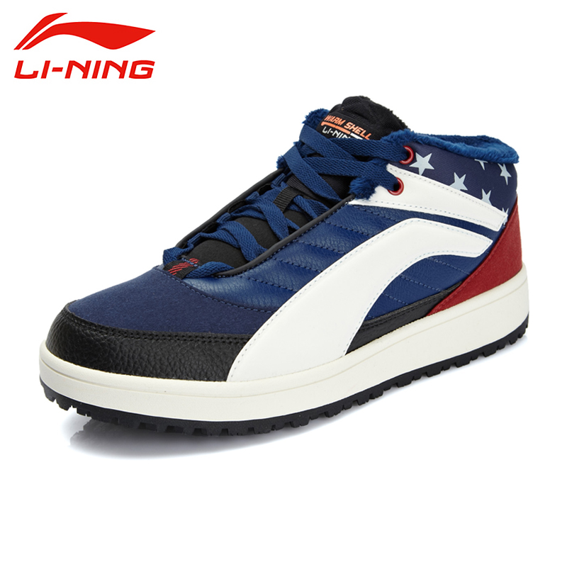 LI-NING New Outdoor Brand Height Increasing Winter Mid-Tod Jogging Shoes Sport Shoes Sneakers Walking Shoes Men ALCK107 XMR1156 цены онлайн