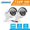 Annke alta qualidade 2 pcs câmera hd cor branca cmos 1200tvl 36 leds ir night vision câmera de cctv ao ar livre à prova d' água câmera