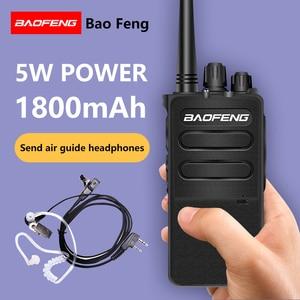 Image 1 - 2 uds BAOFENG BF 868plus Walkie talkie Uhf 2 vías radio BF 898 5W UHF 400 470MHz 16CH transceptor portátil con auricular de aire