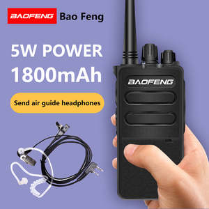 Image 1 - 2PCS BAOFENG BF 868plus Walkie talkie Uhf 2 way radio BF 898 5W UHF 400 470MHz 16CH Portable Transceiver with Air Earpiece