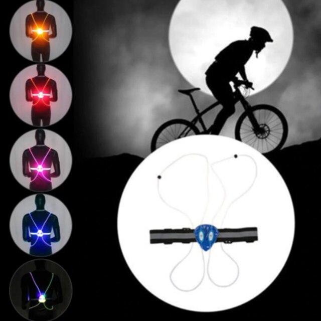 Night Running Cycling Flashing Vest Motorcycle LED Light Up Safety 360 Reflective LED Flash Driving Vest Safety Bike Vest 1