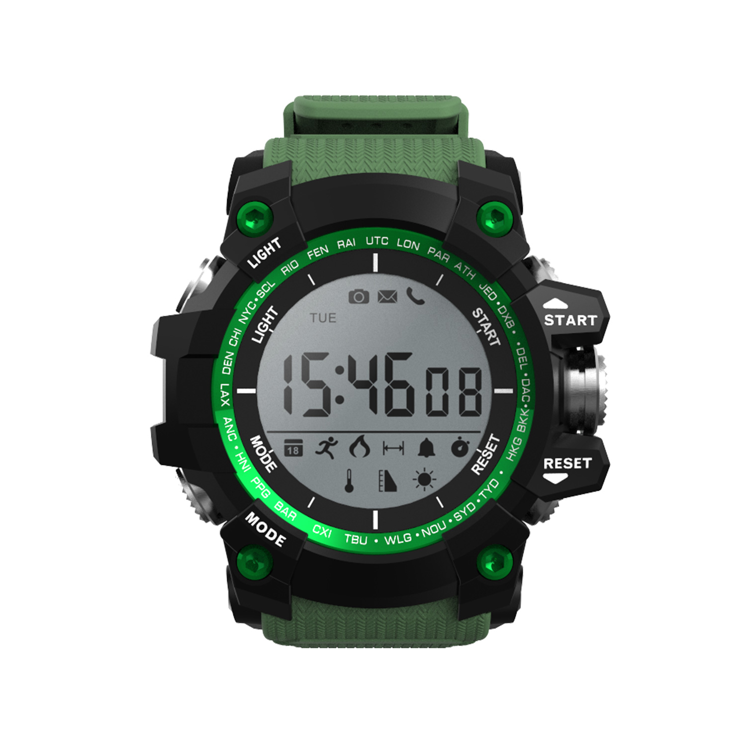 Bluetooth Sport Smart Watches DTNO 1 F2 with UV Thermometer Altitude For Android IOS iPhone support