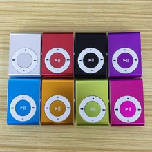 Fashion small portable button type no screen clip card metal shell MP3 player student sports music Walkman
