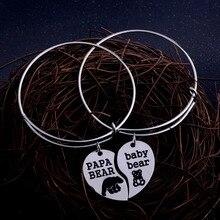 411160d2af7dd Bracelet 2 pièces ensemble PAPA maman ours maman bébé amour coeur Bracelet  Animal Bracelet famille