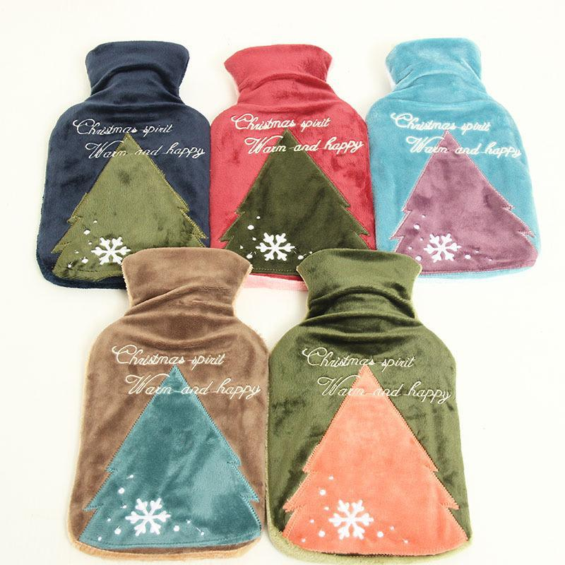 Water Bag Heaters Pocket Hand Warmer Christmas Tree Corduroy Cover Water-Filling Warmer winter casual Christmas Gift A5