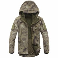 Bomber Jacket Men Lurker Shark Skin Soft Shell TAD Military Tactical Jacket Waterproof Windproof Hunt Camouflage