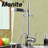 Solid Brass Basin Faucet Hot Cold Water Tap Single Handle Wash Chrome Finish Kitchen Sink Mixer