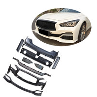 E style PP Front bumper rear bumper exhuast tips body kit fit for Infiniti Q50 Car Accessories