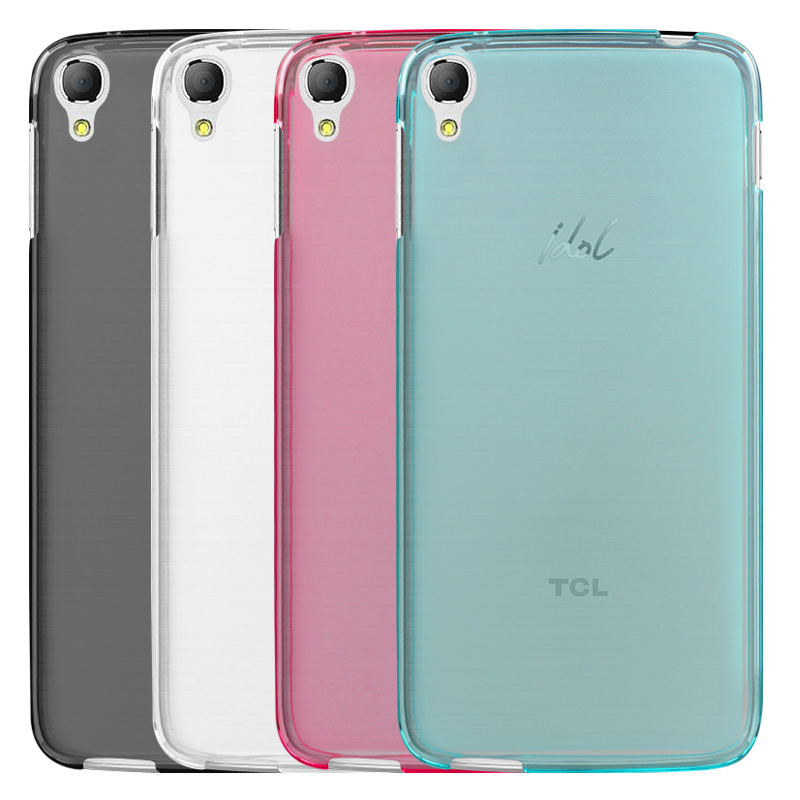 Luxury Transparent Soft TPU Gel Cover Funda Case Skin For <font><b>Alcatel</b></font> OneTouch <font><b>Idol</b></font> <font><b>3</b></font> (5.5 inches) Mobile Phone <font><b>6045</b></font> 6045Y 6045K image